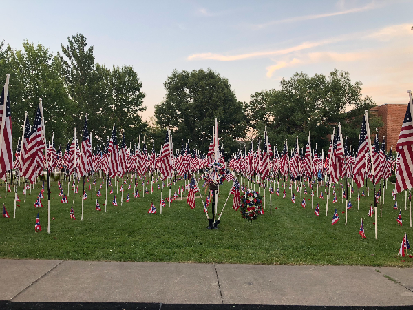 Field grave daytime configuration of flags of honor Brecksville OH