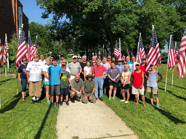 Brecksville OH Setup Crew for Flags of Honor