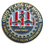 The Ohio Flags of Honor lapel pin.